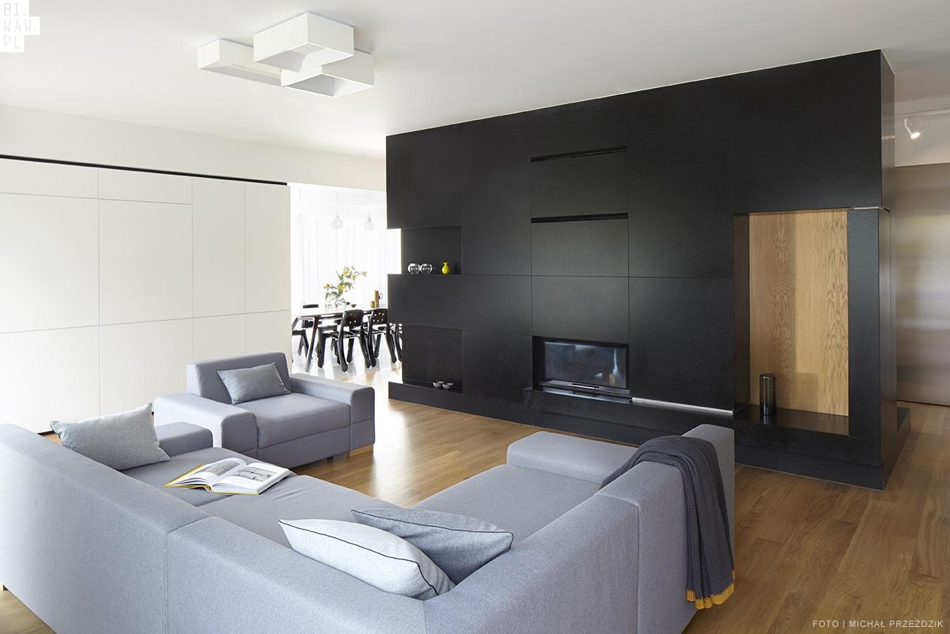 Salon - projekt mieszkania WAW.PL 1