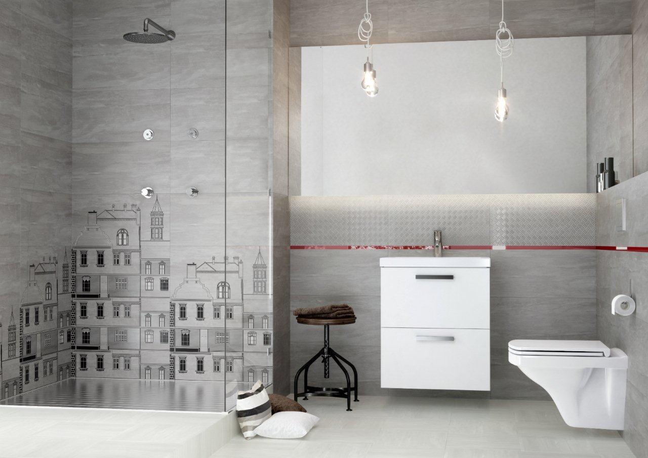 Łazienka wykończona płytkami z kolekcji City Cersanit