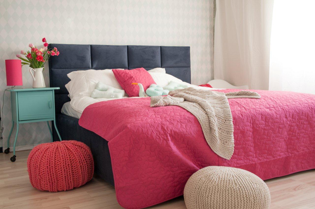 Łóżko kontynentalne tapicerowane Hilding TULIP