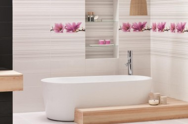 Kwiatowe aranżacje w łazience