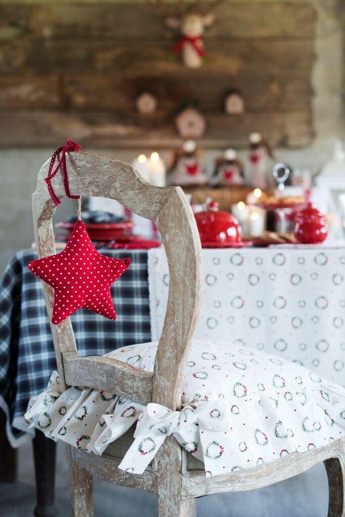 Świąteczna zawieszka gwiazda - sklep Blanc MariClo