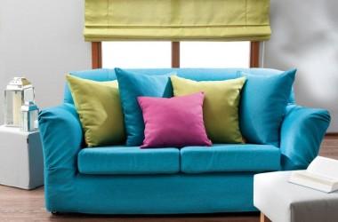 Mieszkanie w mocnych kolorach – tkaniny