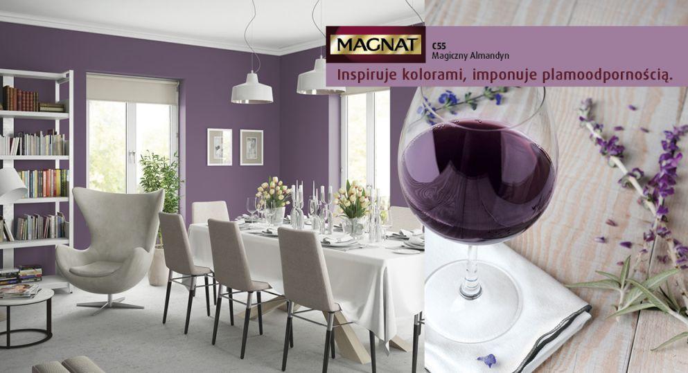 Kuchnia pomalowana farbami Magnat - dominacja fioletu