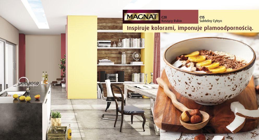 Kuchnia farby Magnat - odcienie żółtego kolory