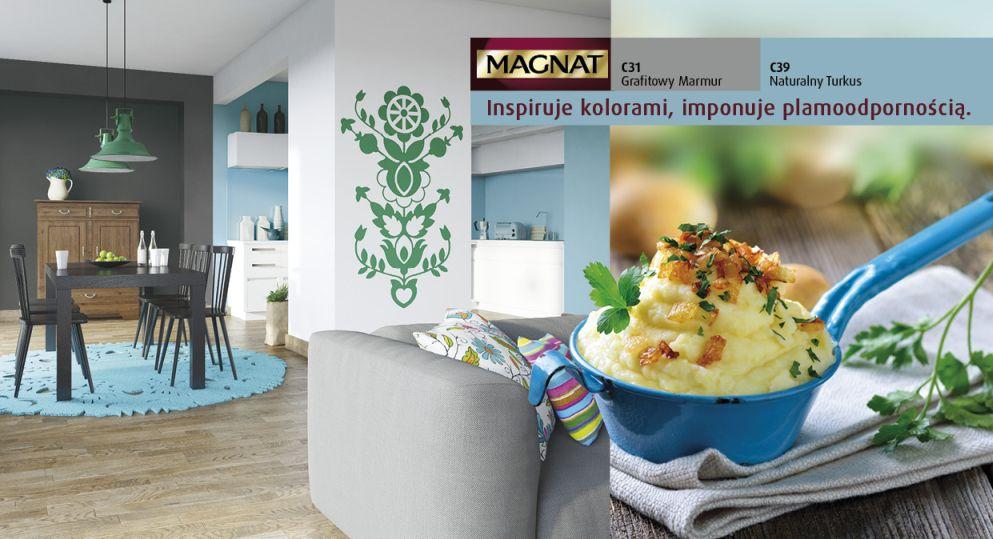Kuchnia z akcentem turkusu
