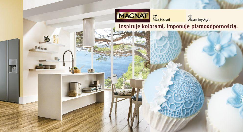 Kolory pastelowe w kuchni - farby Magnat