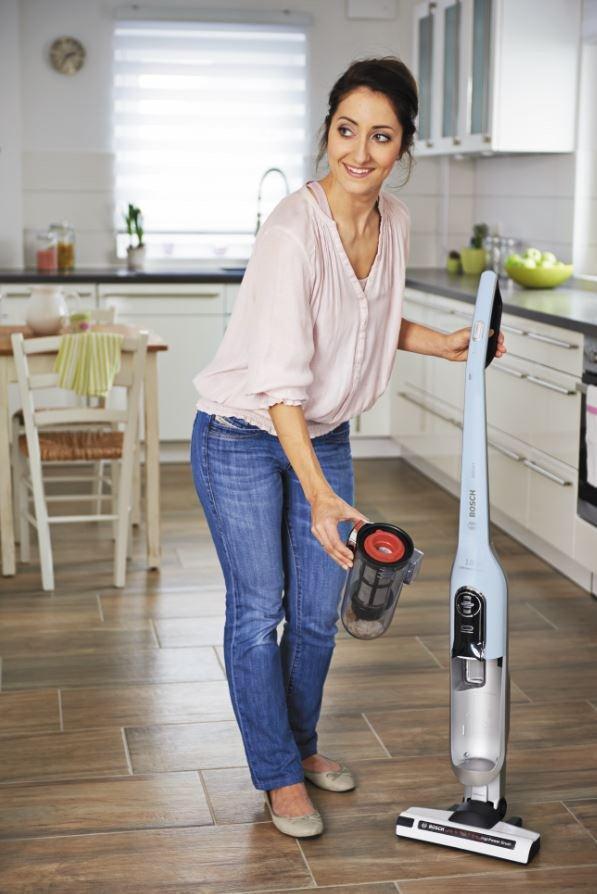 Odkurzacz bezprzewodowy Bosch Athlet BBH51830 z wyjmowanym filtrem do mycia