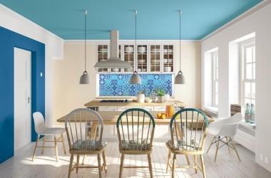 Błękit i zieleń w mieszkaniu