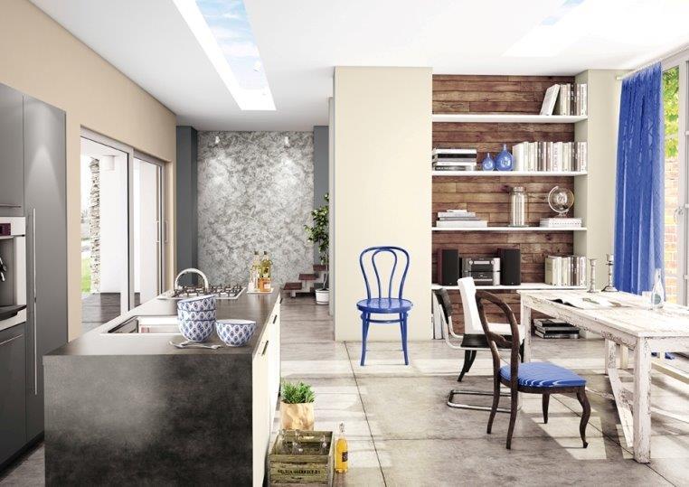 farba Magnat Ceramic idealna do kuchni - kobaltowe dodatki nadają charakter; MAGNAT CERAMIC w odcieniach: