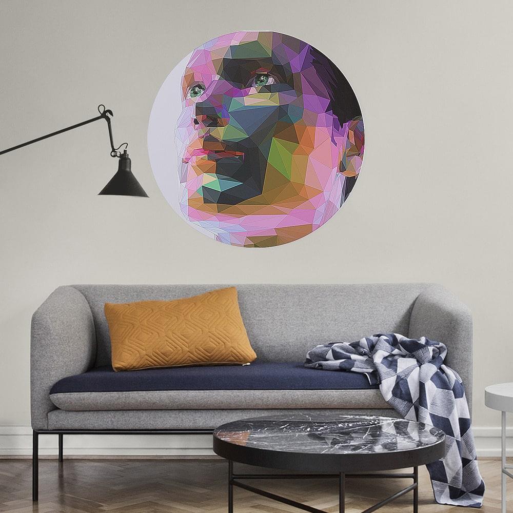 feeby.pl abstrakcja portret mężczyzny