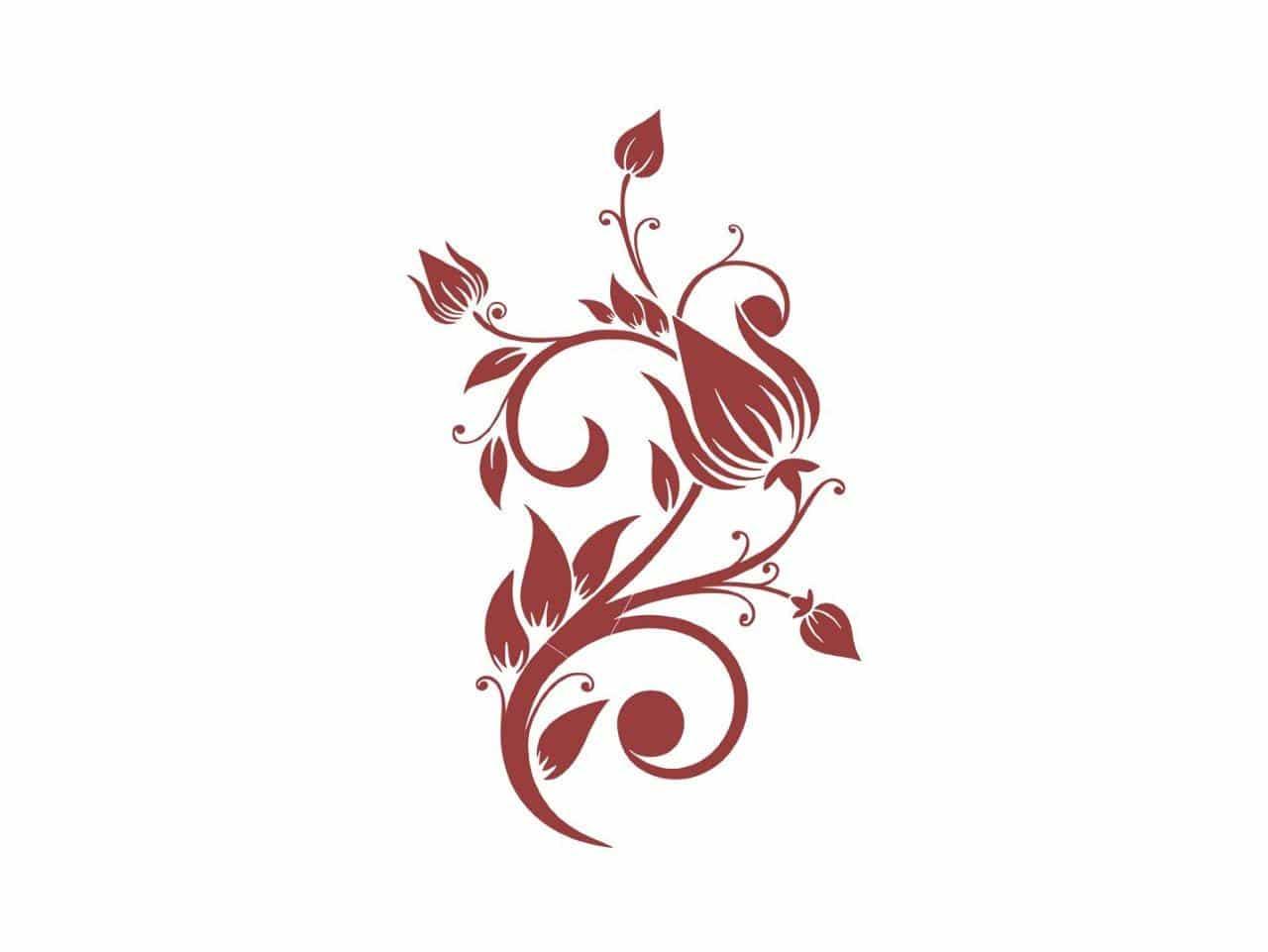 Black Red White, naklejka dekoracyjna 48,77 zł