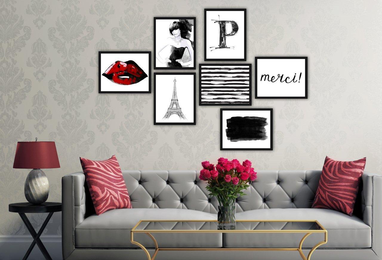 Galeria obrazów paryska - styl glamour