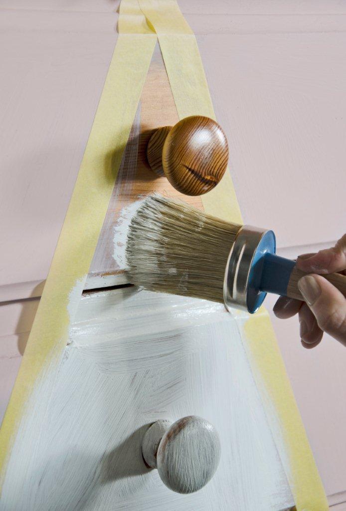 Pędzel do malowania farbami kredowymi