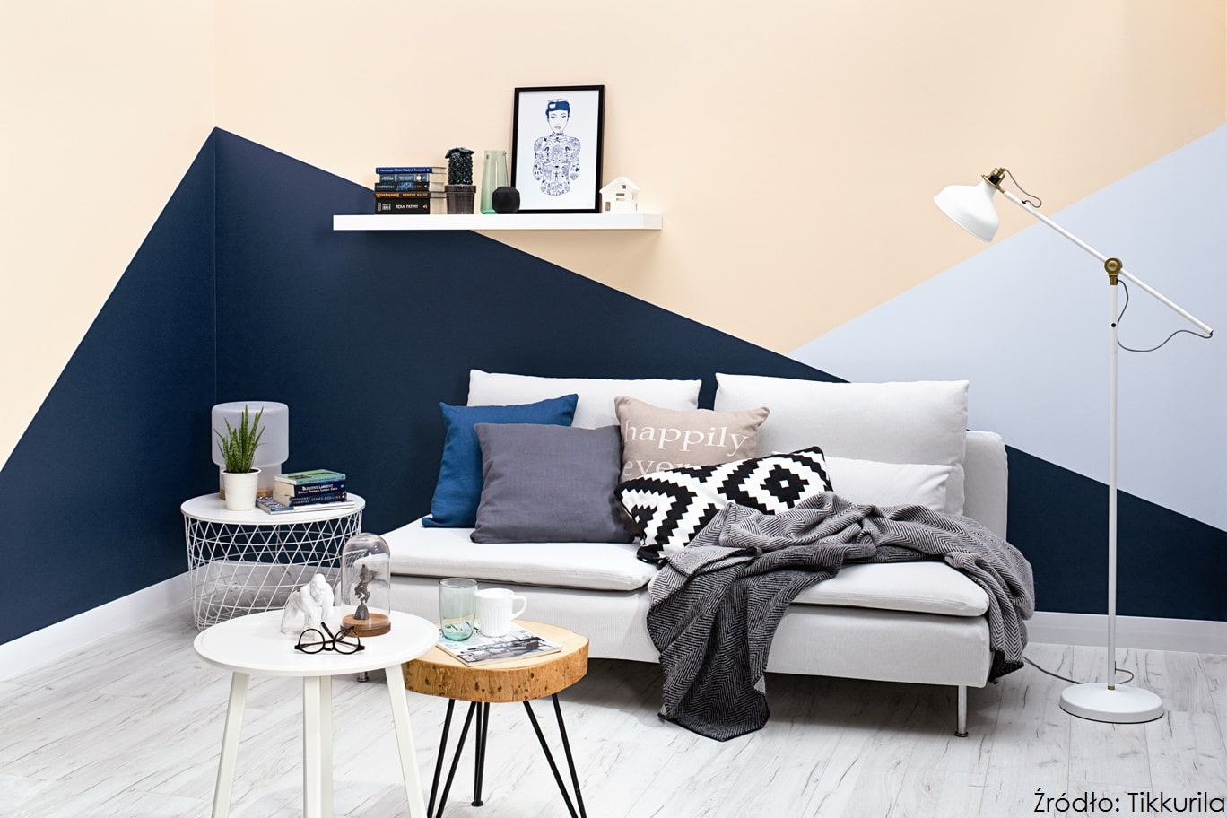 Color Now Clay_Tikkurila Optiva Ceramic Super Matt 3_kolory N429 Denim, Y406 Riviera, F496 Seagull