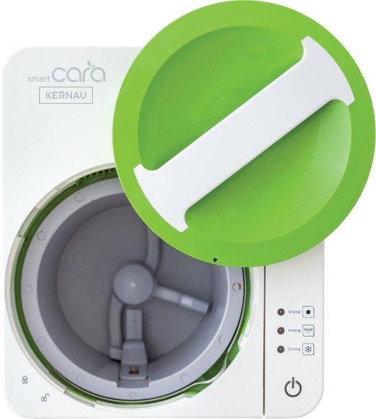Utylizator bioodpadów Smart Cara firmy KERNAU ma wyjmowany wewętrzny pojemnik, który można myć w zmywarce