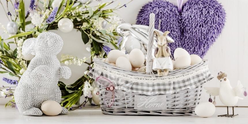 home&you Wielkanoc BIel, zieleń i lawenda