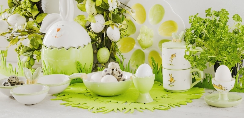 home&you dekoracje z dominująca zielenią