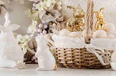 Wielkanocne dekoracje, wielkanocny stół