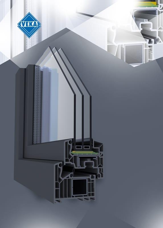 Profil okienny VEKA Softline 82 w pełni szary