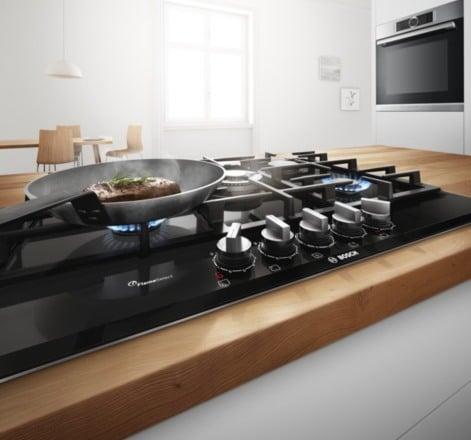 Płyta gazowa Bosch z technologia FlameSelect