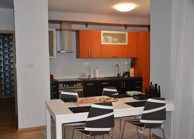 Widok na kuchnię po zmianach