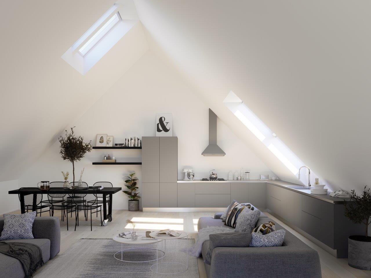 Okna dachowe w kuchni