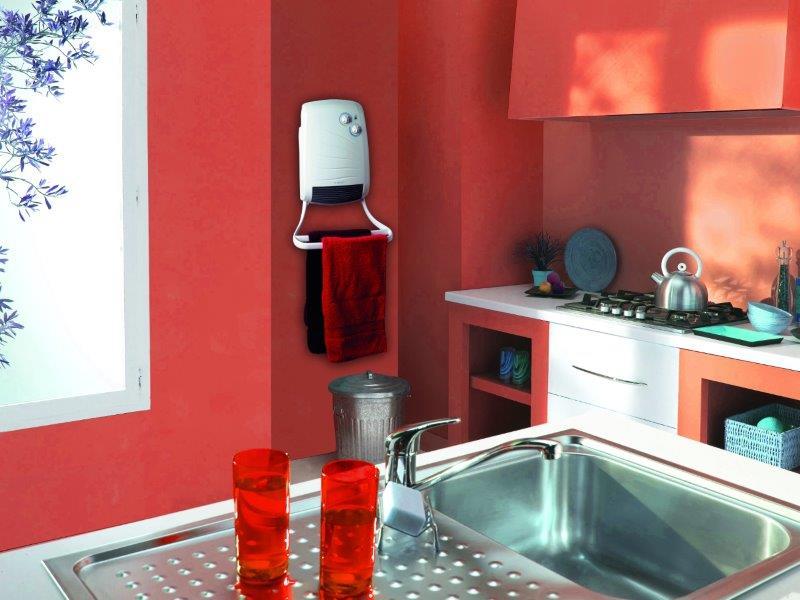 Grzejnik elektryczny Nicobar w kuchni