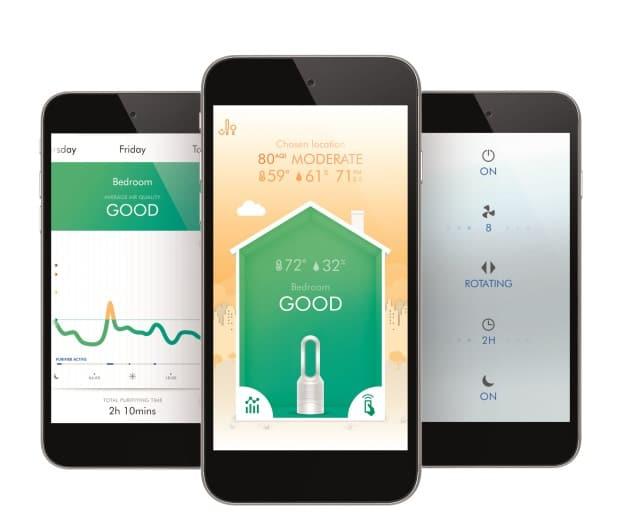 Aplikacja do obsługi oczyszczacza Dyson Pure Hot+Cool™ Link