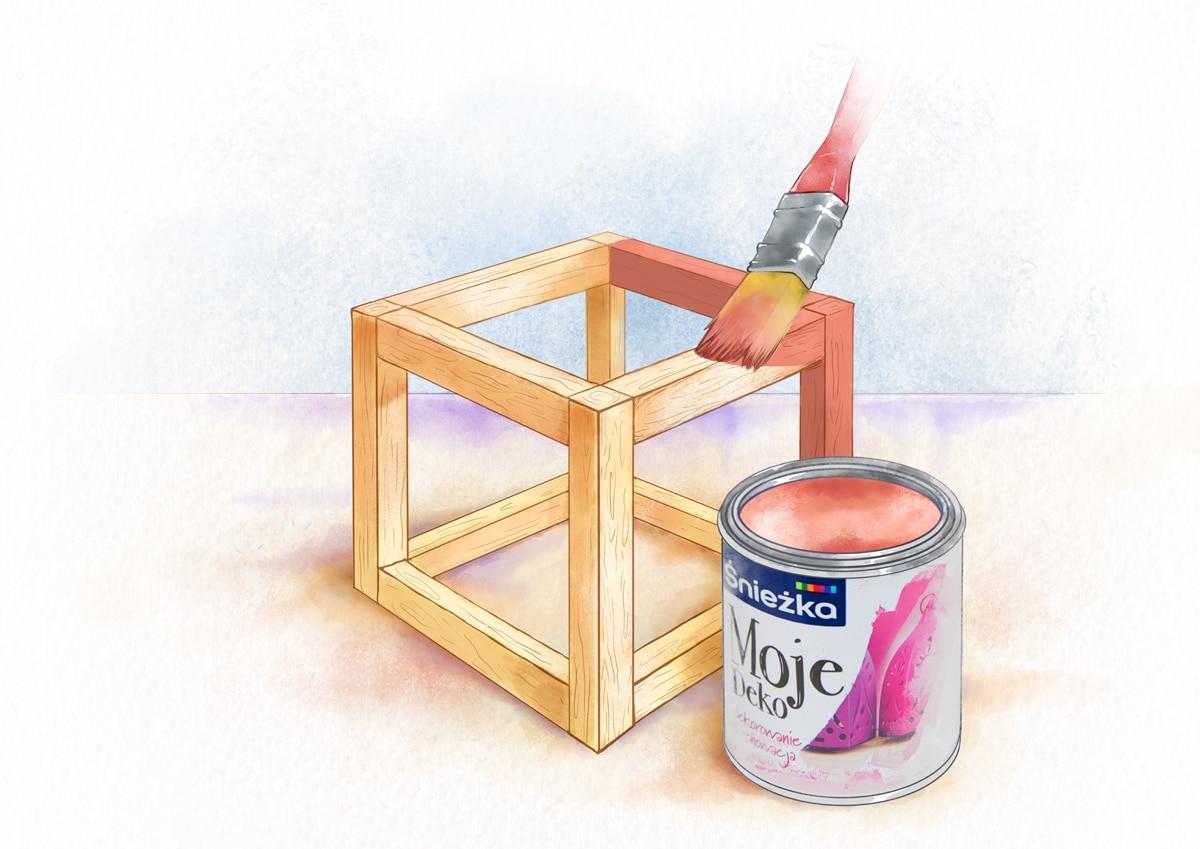 Drewno można pomalować do dowolny kolor