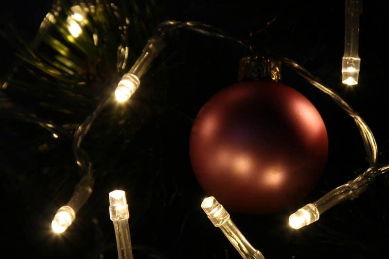 Bombka podświetlona LED-ami