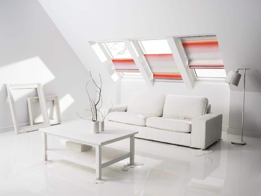 Rolety rzymskie na okna dachowe - kolejkcja Scholten & Baijings VELUX
