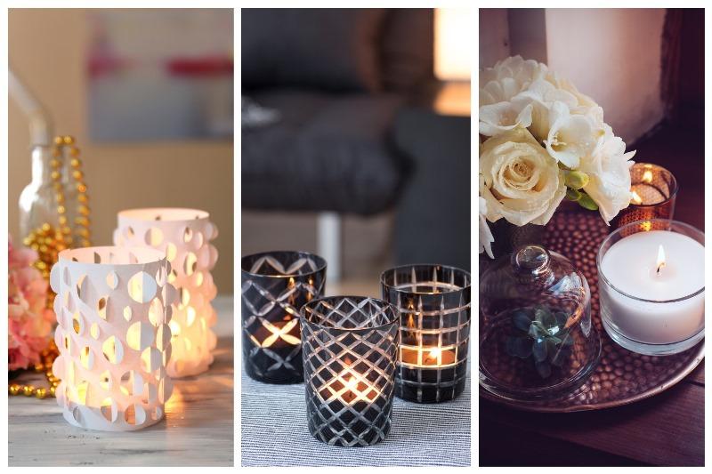 Świece i świeczniki to efektowna dekoracja
