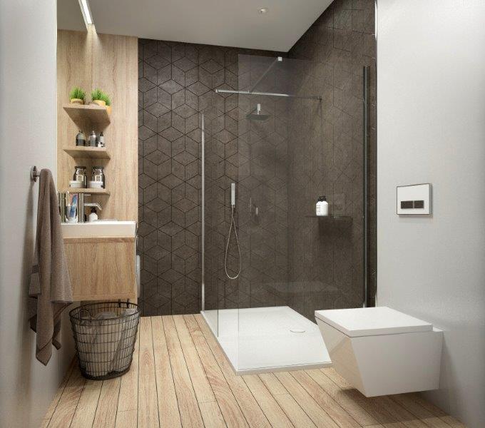 Kabina Prysznicowa Narożna Z Elementów łazienka