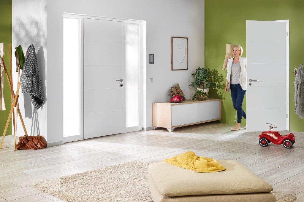Drewniane drzwi wewnętrzne z powierzchnią Duradecor - producent Hörmann