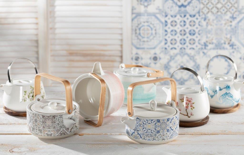 Dekoria.pl, czajniki porcelanowe – Natura, Casa Decor, Artesanal, Sakura, Aqua