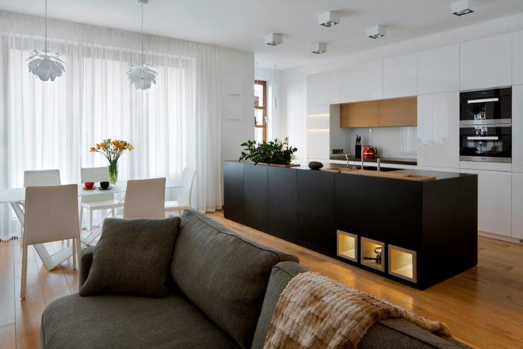 Inter Arch kuchnia połączona z salonem
