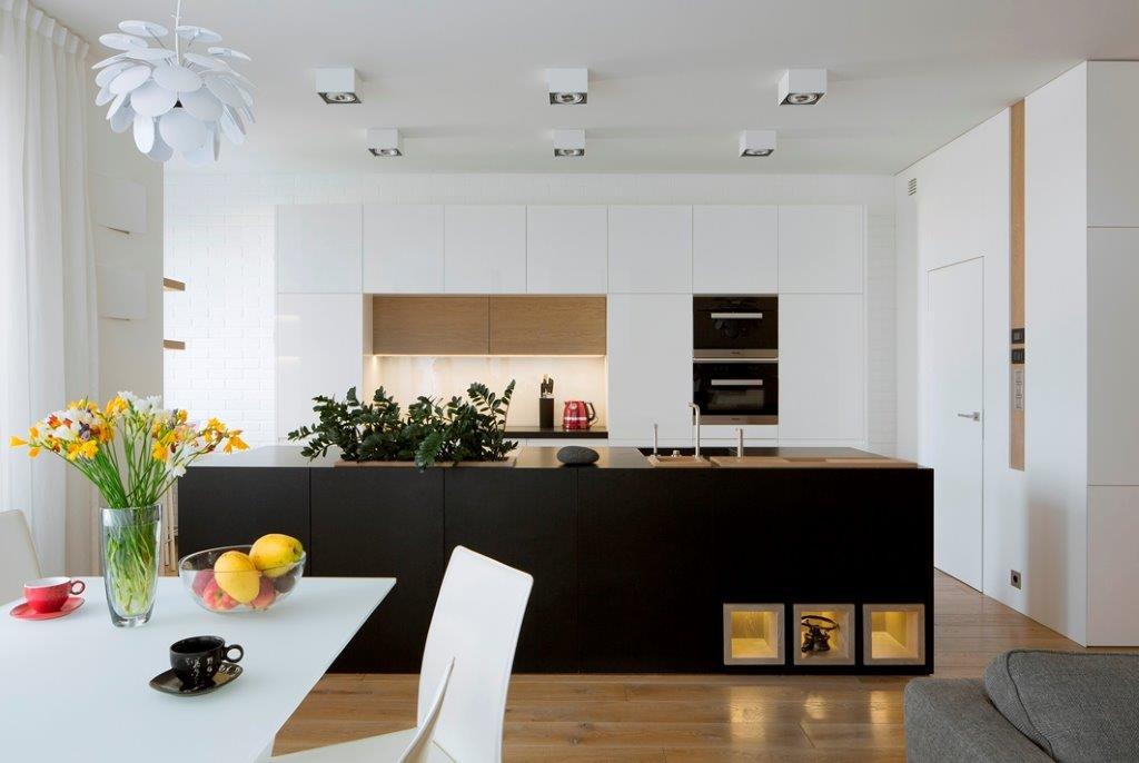Inter Arch widok na kuchnię z salonu