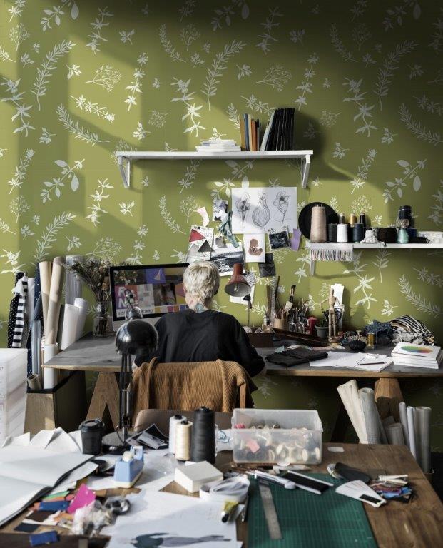 Pracownia w domu - na ścianie fototapeta Pixers