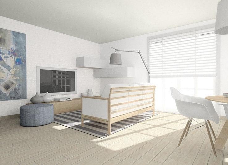 Studio Loko projekt pokoju dziennego