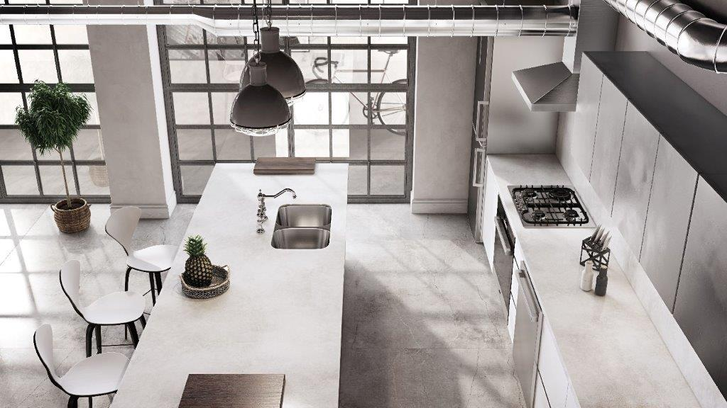 Silestone Kitchen - Silver Lake (flooring Brooklyn_Cosentino