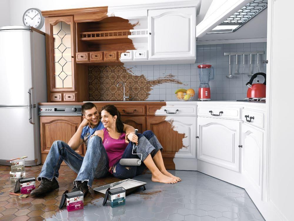 Kuchnia odnawiana farbą V33