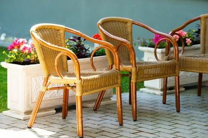 Rattanowe fotele ogrodowe