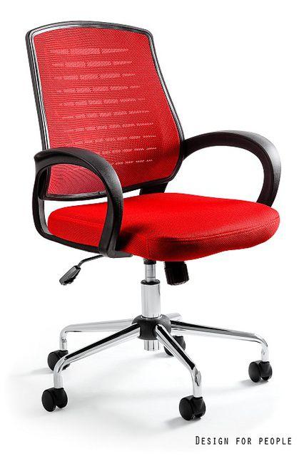Obrotowy fotel biurowy na kołkach