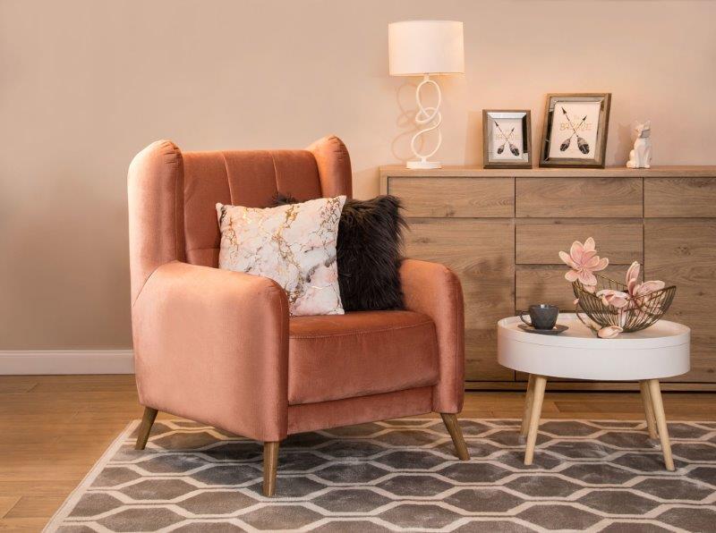 Salon z wygodnym fotelem; Salony Agata