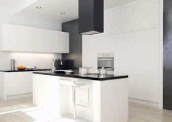 Okap tuba do kuchni czarno-białej