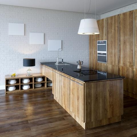 Nowoczesna kuchnia z nowoczesną płytą kuchenną