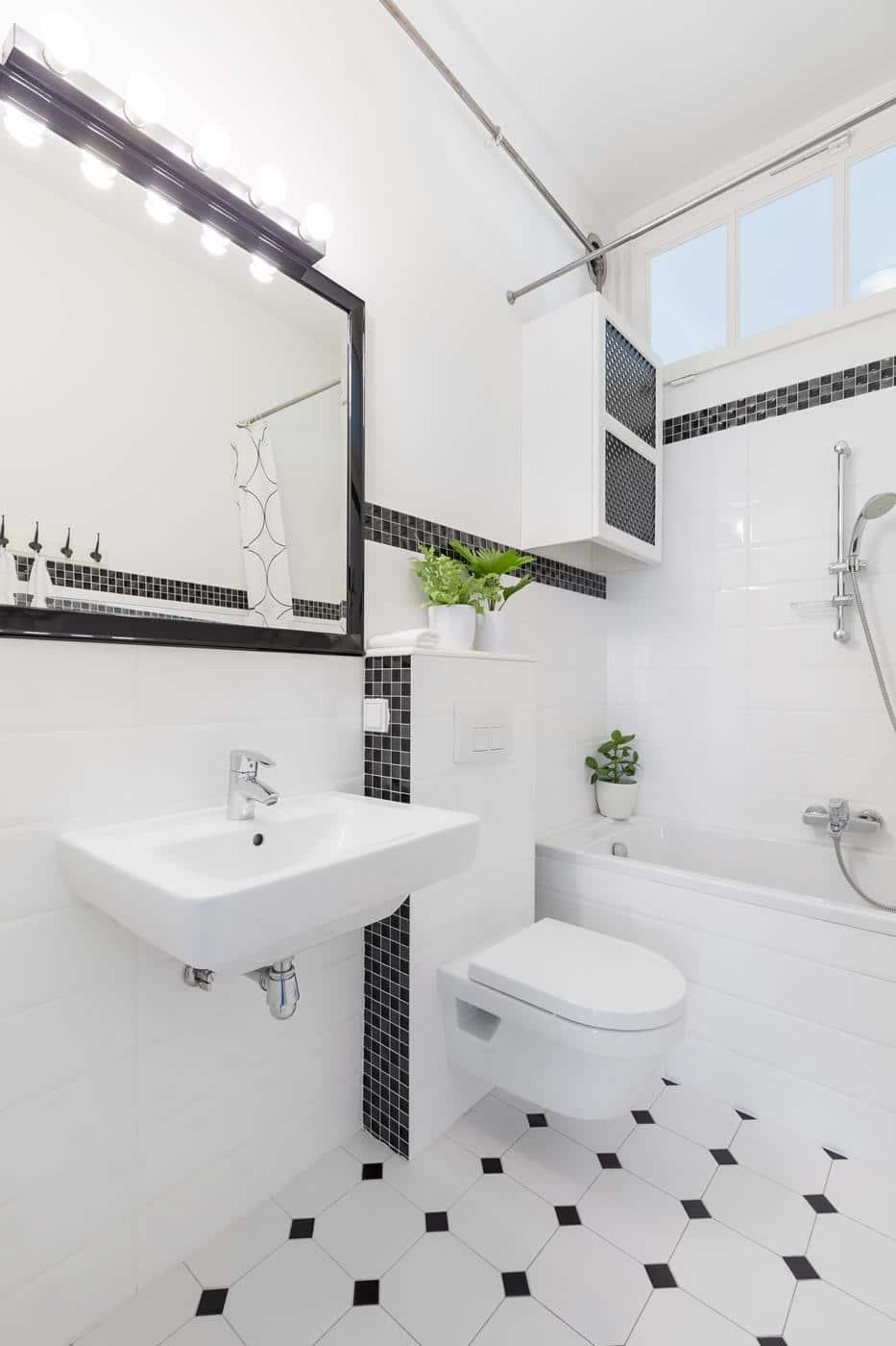 łazienko biało-czarna