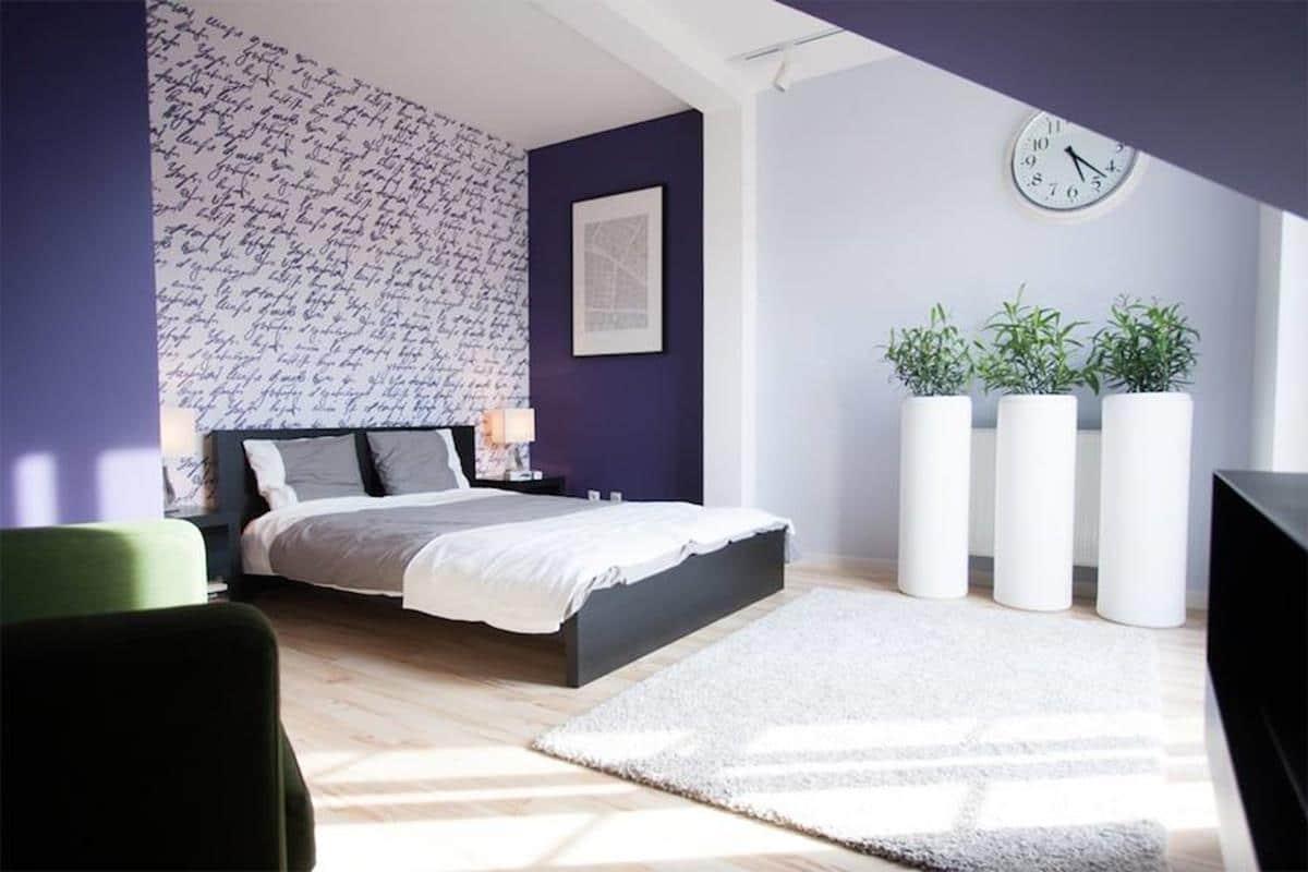 Sypialnia z roślinami