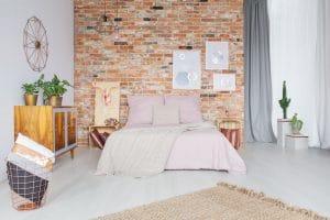 styl industrialny w sypialni