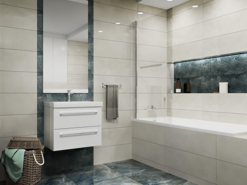 nowoczesna łazienka w białym kolorze